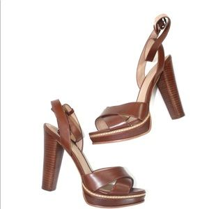 Chestnut Brown Aldo Heels